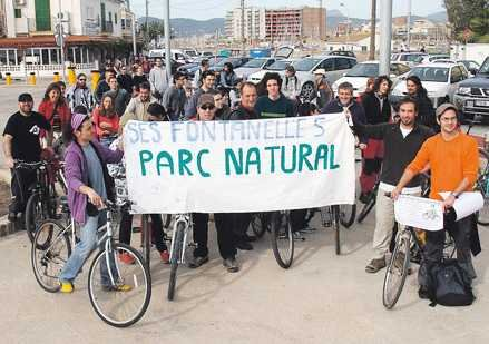 Bicicletada per salvar Ses Fontanelles (11-02-07)