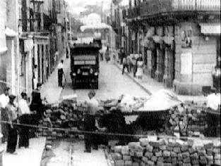 Barricada a Barcelona durant els Fets de Maig de 1937