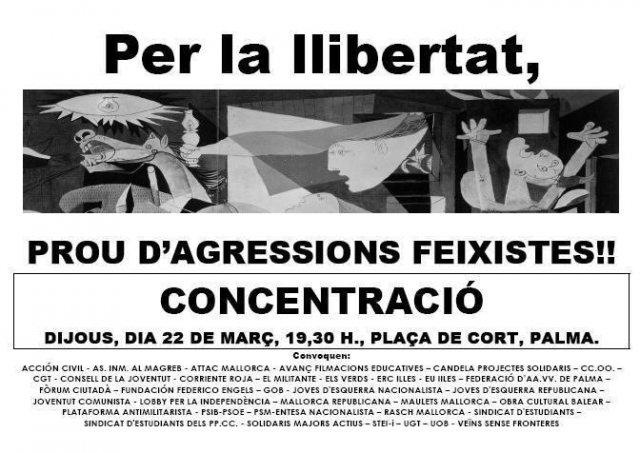 «Per la llibertat, prou d'agressions feixistes!» (22-03-07)
