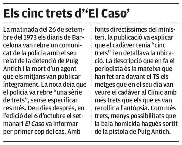"""Los cinco rasgos de """"El Caso"""""""