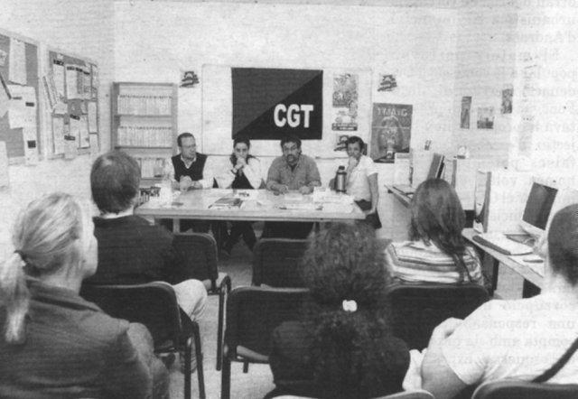 Reunió a la seu de CGT