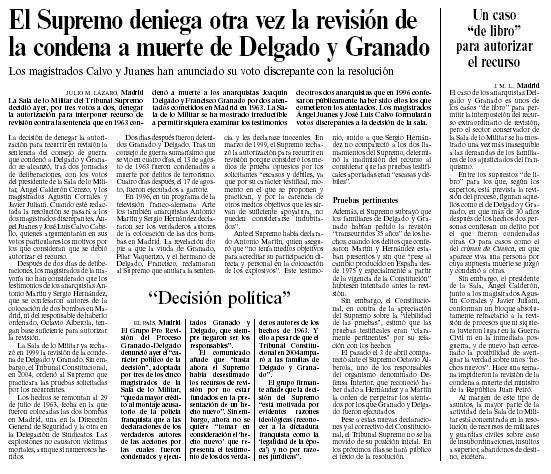 """""""El País"""", 14-12-06"""