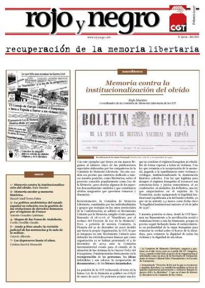 Especial «Recuperación de la memoria histórica» («Rojo y Negro» - Febrer 2007)
