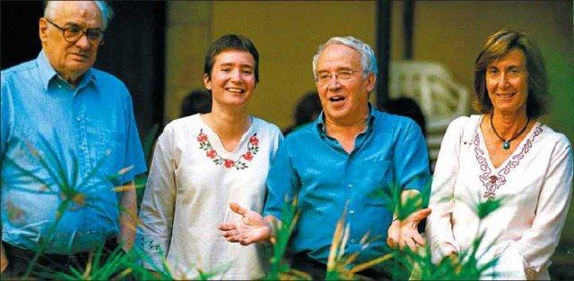 L'anarquista Luis Andrés Edo, l'assagista Queralt Solé, Josep Maria Huertas i la historiadora Anna Sallés, vídua de Manuel Vázquez Montalbán