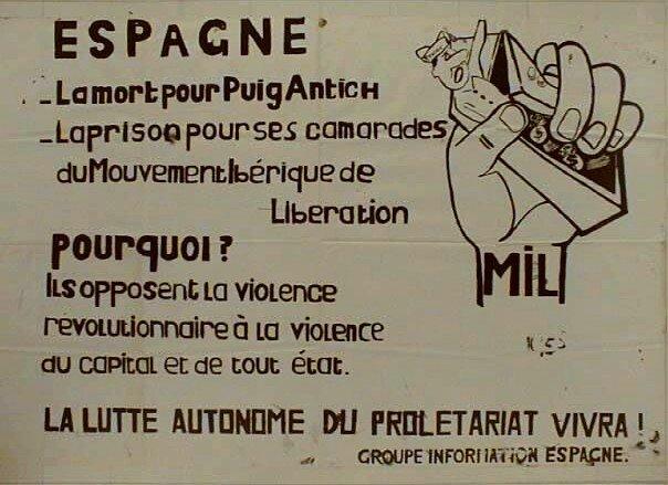 Solidaridad francesa con Puig Antich