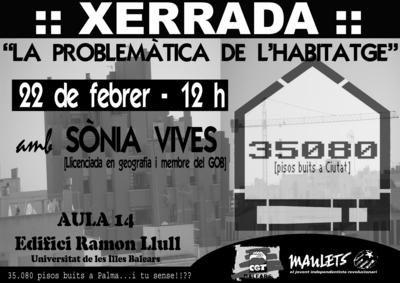 Xerrada «La problemàtica de l'habitatge» (22-02-07)